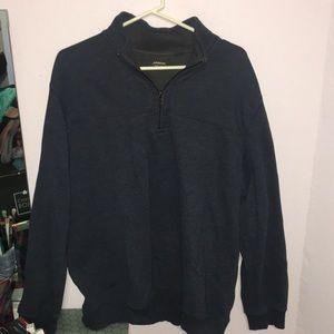 Arrow XXL pullover zip collar navy blue
